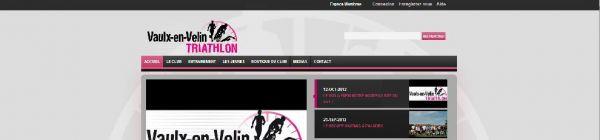 Vaulx-en-velin Triathlon - Drupal 7 - Thème Custom